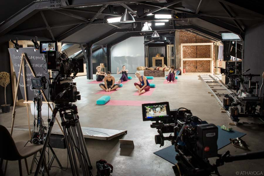 ATHAYOGA on set for Udaya Yoga